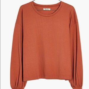 Madewell Chord Bubble Sleeve Top